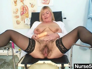 Busty Lady Irma got extremly hairy muff