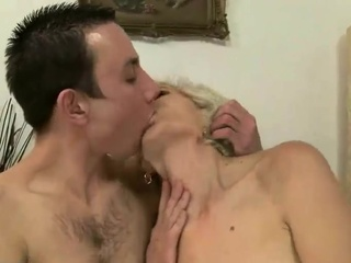 Granny riding hard cock
