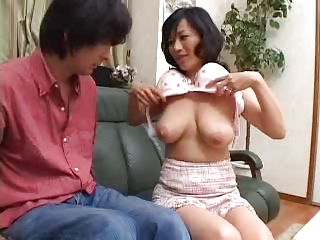 Mom became fascinated with young cock.