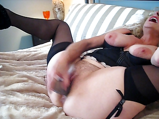 Blonde Slut Wife Fucks Herself
